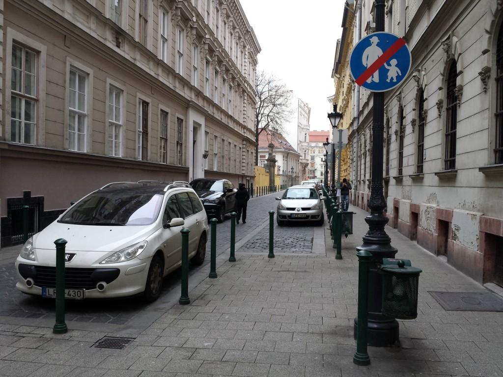 une rue de Budapest
