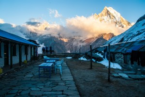 Coucher de soleil annapurna