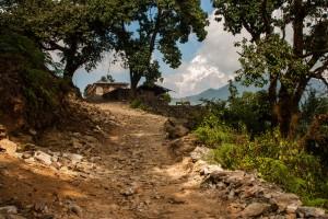 Chemin vers le sanctuaire des Annapurnas