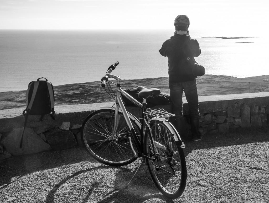 balade à vélo sur la sky Road