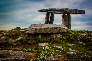 Une dolmen dans le comté de Clare