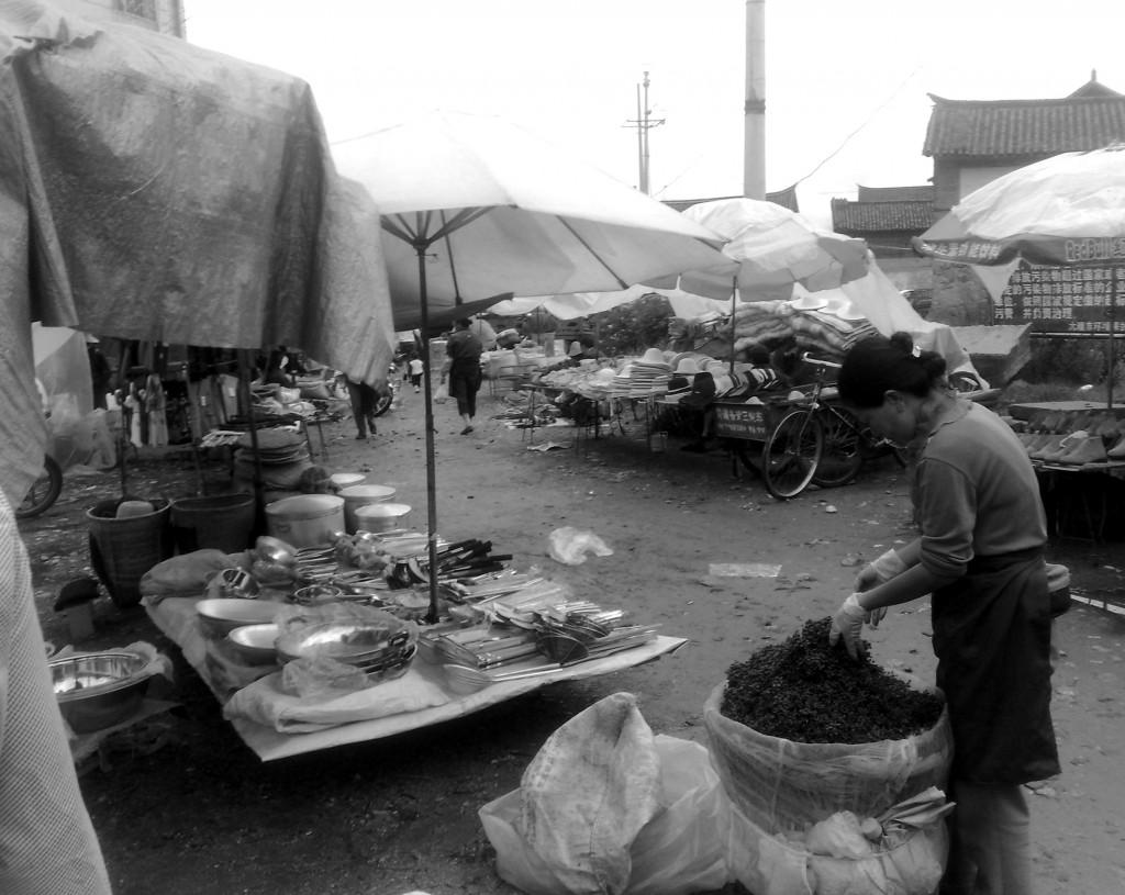 Un marché local dans la région du Yunnan