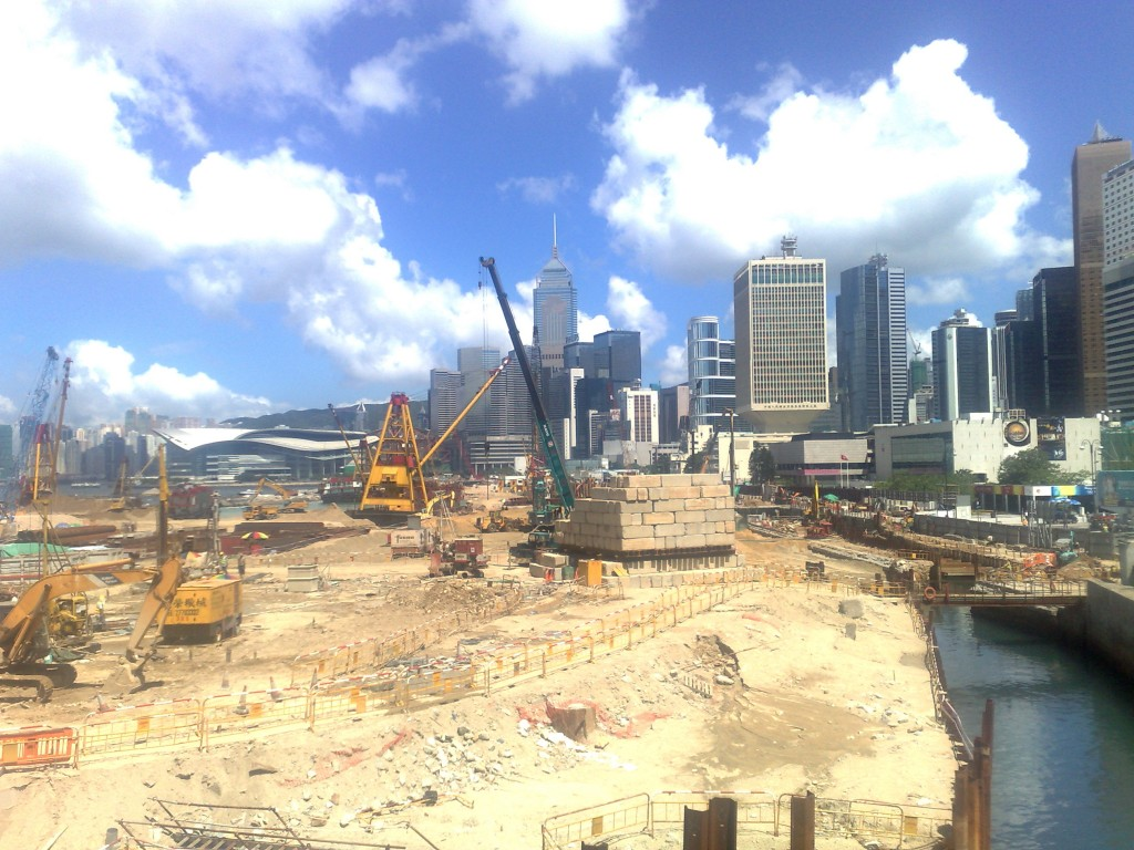 Hong Kong en construction
