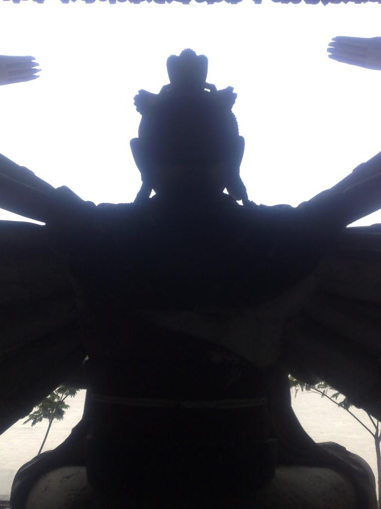 La statue d'un déesse chinoise