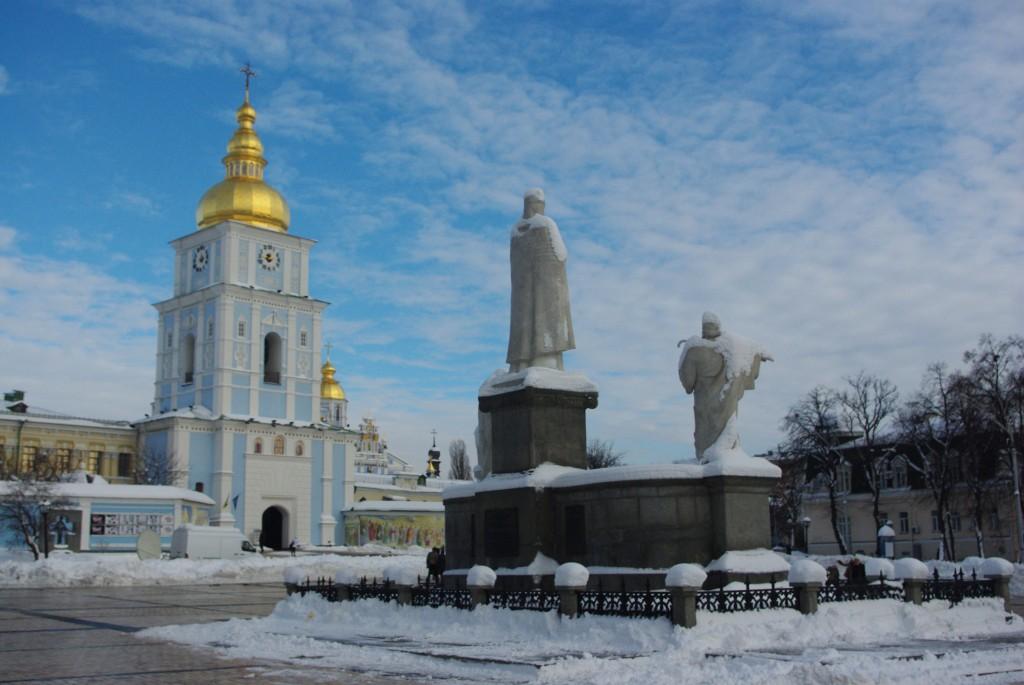Une statue à Kiev