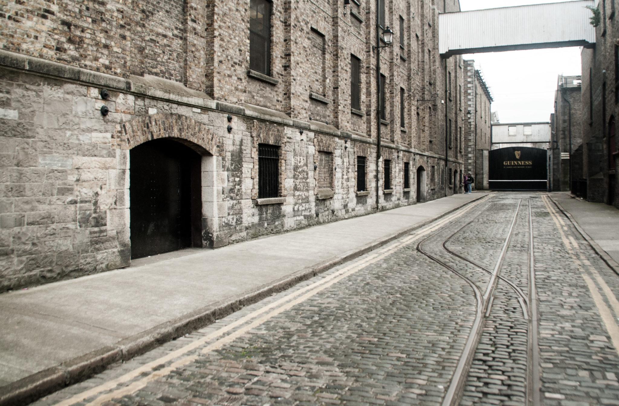 Entrée de la guinness factory à Dublin