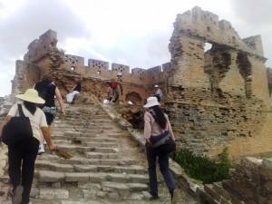 Muraille de chine en ruines