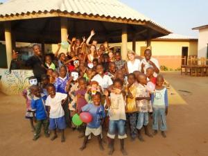 Enfants d'un orphelinat en Afrique