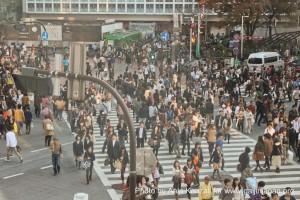 La foule à Tokyo