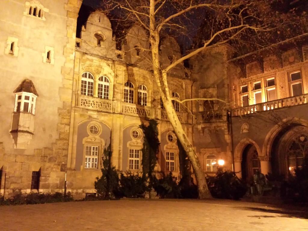 Cour d'un chateau