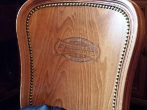 Une chaise du café Gerbeaud