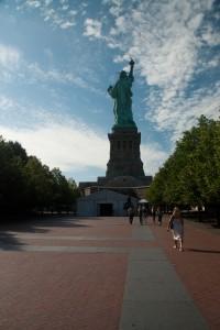parvis de la statue de la liberté