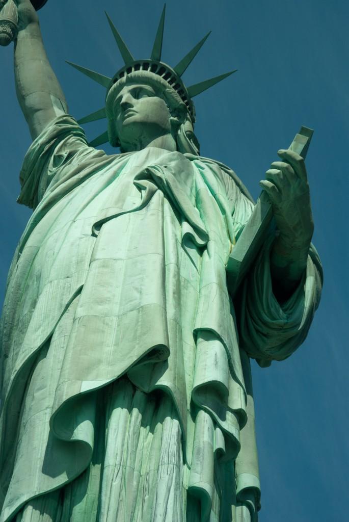 Vue globale de la statue de liberté