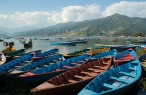 Barques à Pokhara