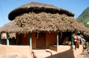 Habitation simple au Népal