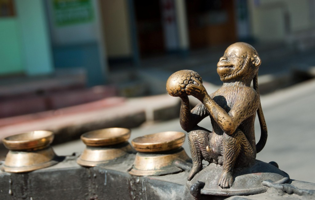 Statue de singe
