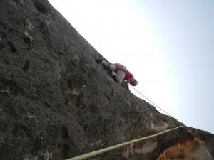 Escalade d'une falaise