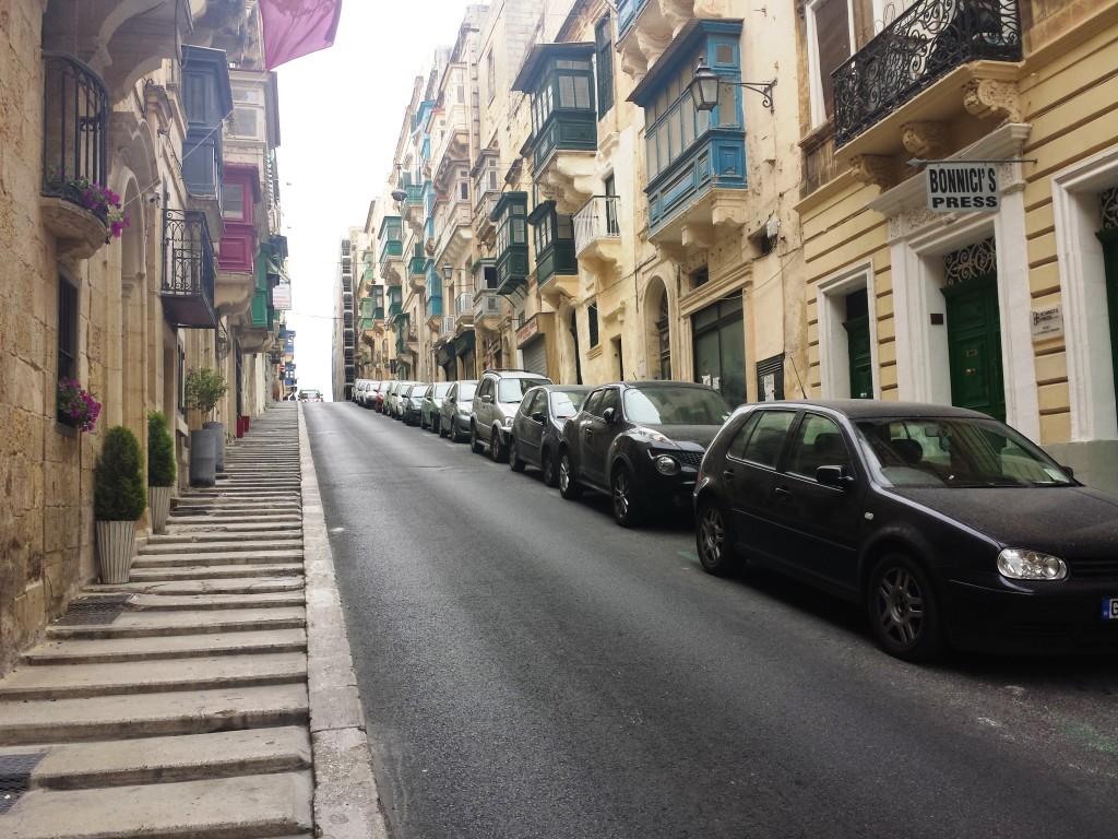 une rue de valletta