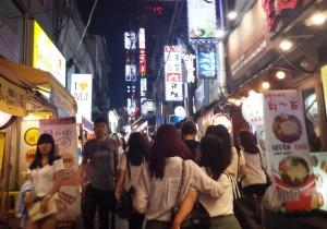 Rue animée de Hongdae