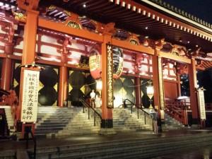 Le temple Sensō-ji dnas le quartier d'Asakusa