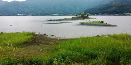 Lac autour de fujisan