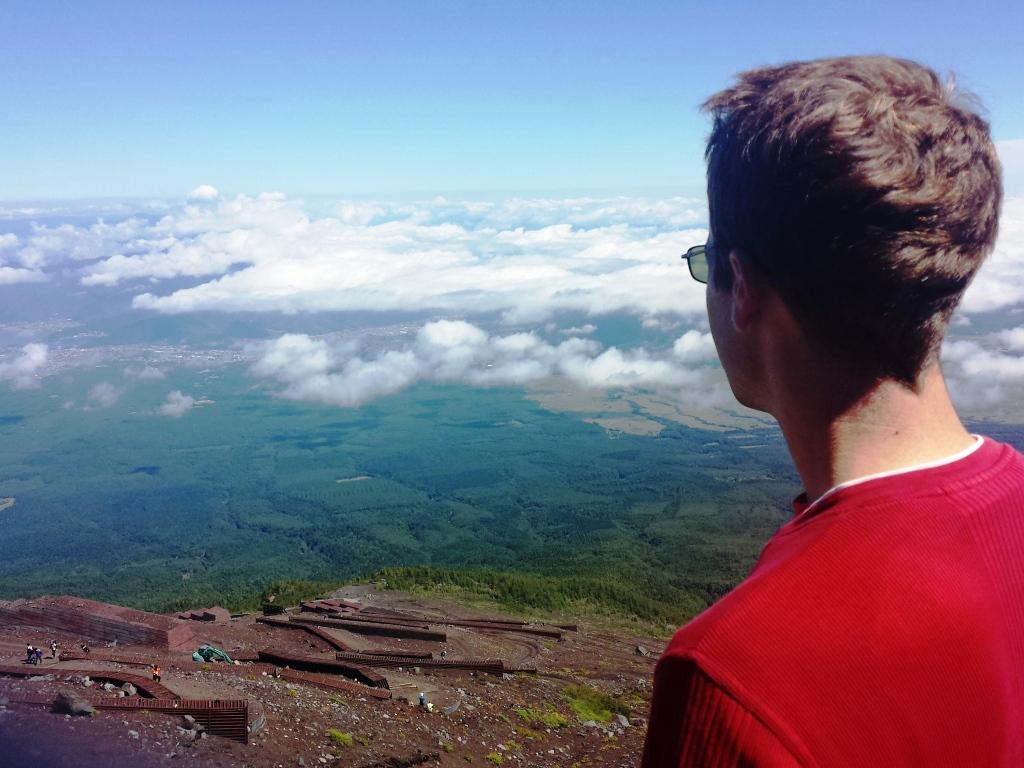 Au sommet du mont fuji