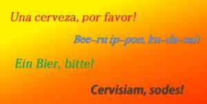 bière dans différentes langues