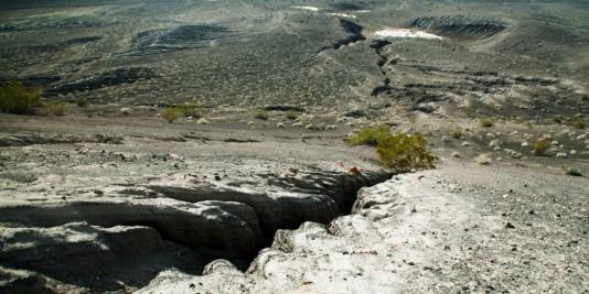 Fissure dans le sol