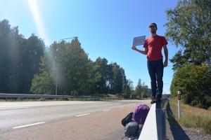 Autostop en bord de route