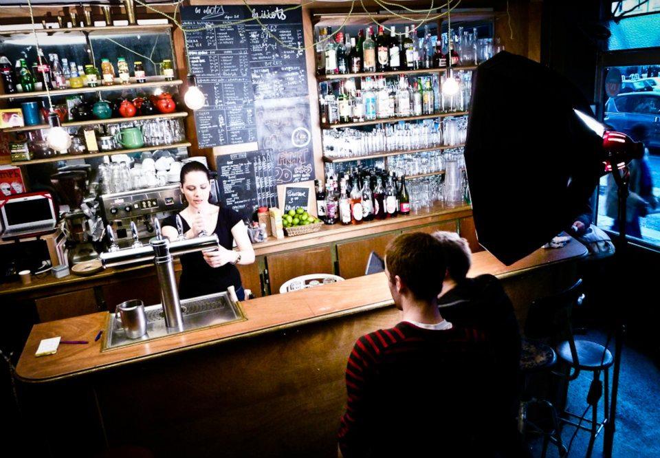 tournage dans un bar