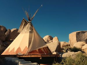 tipi en californie