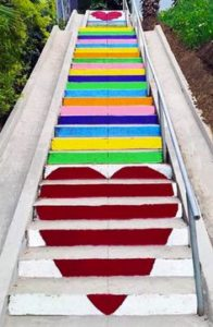 Silver Lake stairs Los Angeles